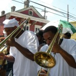 Trombone players in New Orleans