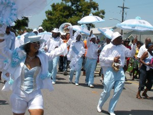 Jazz funeral in New Orleans